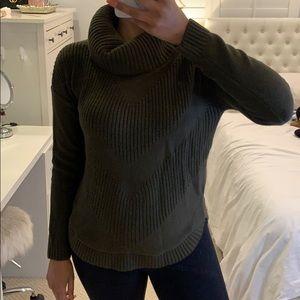 Banana Republic Olive Green Turtleneck Sweater